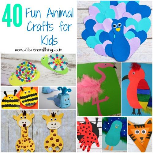 40 Fun Animal Crafts for Kids