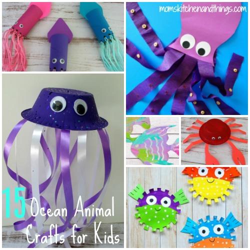 15 Ocean Animal Crafts for Kids