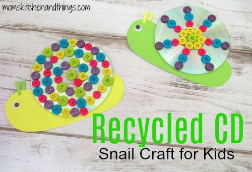 Recycled CD Snail Craft for Kids