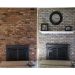 How To White Wash Brick Fireplace (Makeover)