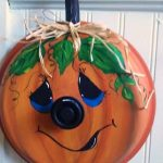 Pot Lid Pumpkin Craft