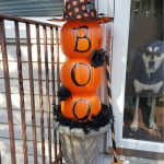 Plastic Pumpkin Front Porch Decoration