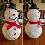3D Yarn Snowman Craft