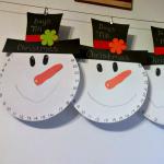 Snowman Countdown to Christmas Craft
