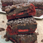 Red Velvet Oreo Brownies