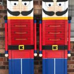 Wood Shutter Nutcracker Decorations