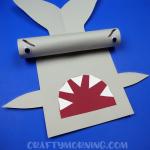Cardboard Tube Hammerhead Shark Craft
