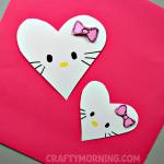 Hello Kitty Heart Valentine Craft