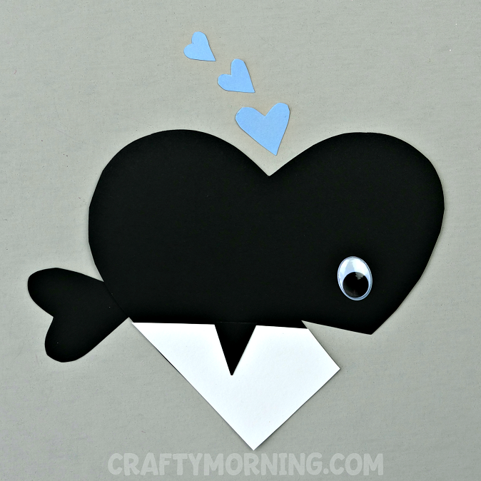 Valentine Heart Orca Whale Craft
