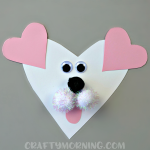 Heart Shaped Dog Valentine Craft