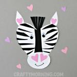 Heart Zebra Valentine Craft