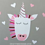 Valentine Heart Unicorn Craft