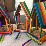 Rainbow Popsicle Stick Birdhouses