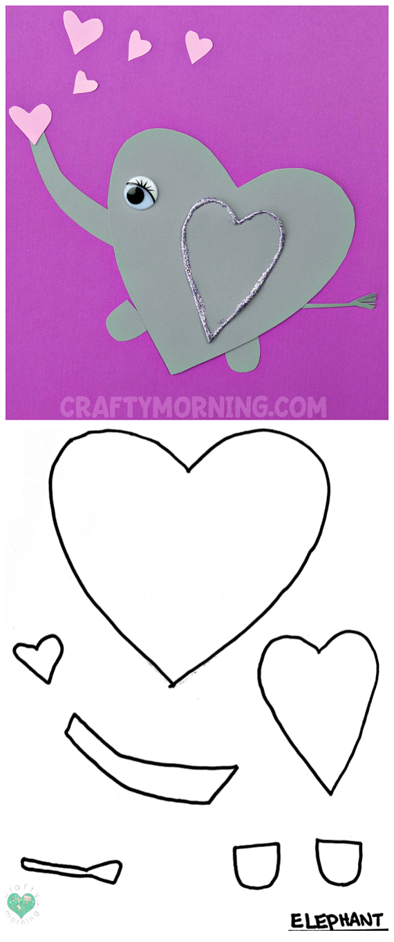Free Printable Templates of Heart Shape Animals - Crafty ...