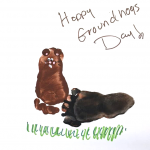 Footprint Groundhogs Day Craft