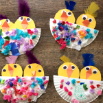 Chick Craft in a Paper Plate Nest