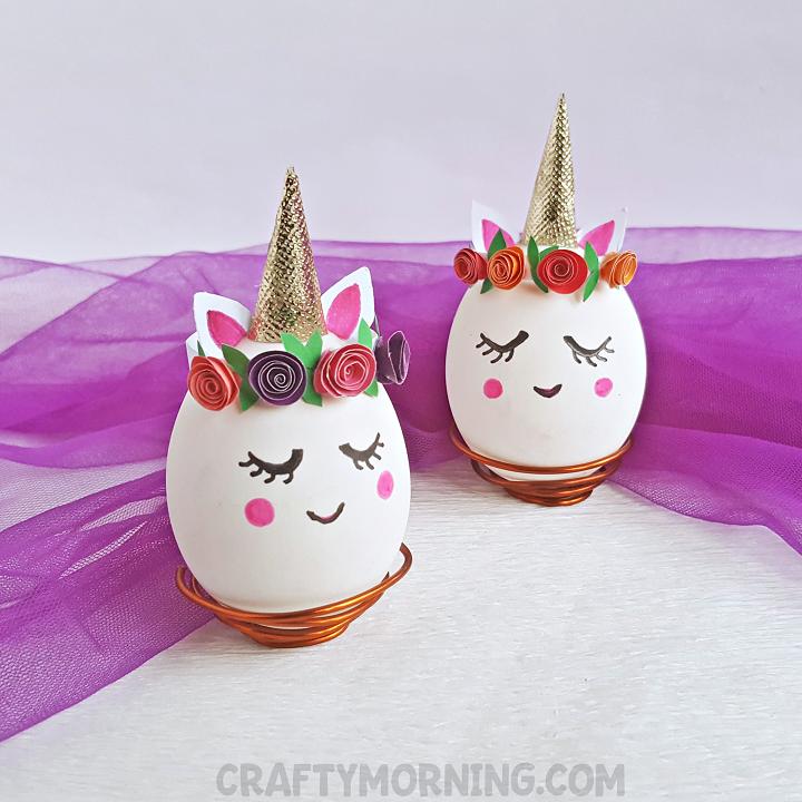 Unicorn Easter Egg Decorating