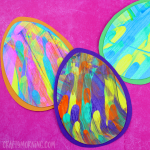 Easter Egg Paint Scrape Craft