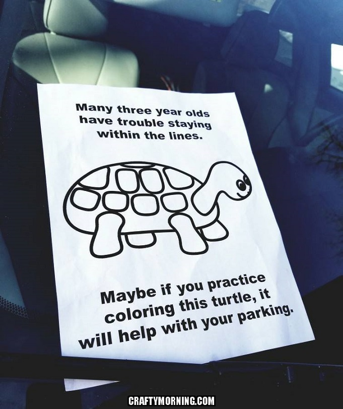Funny Turtle Parking Coloring Page - Crafty Morning