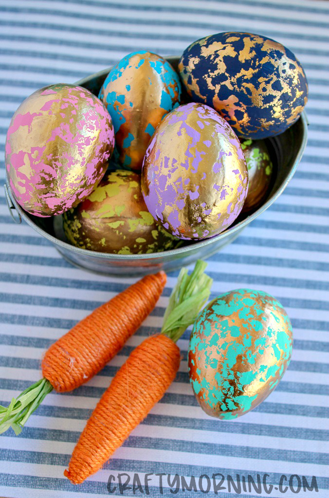 Gold Foil Easter Eggs Crafty Morning