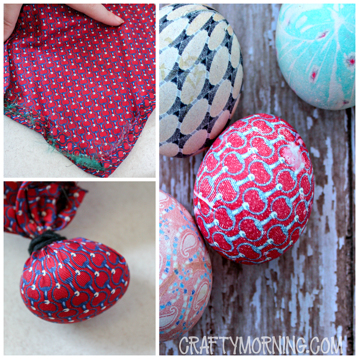 Silk Dyed Easter Eggs Using a Tie