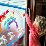Sticky Rainbow Wall (Kids Activity)
