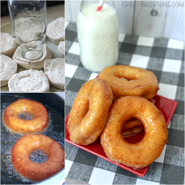 Canned Biscuit Glazed Doughnuts