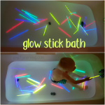 Glow Stick Bath (Kids Activity)