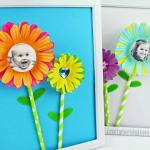 Cupcake Liner Photo Flower Frames