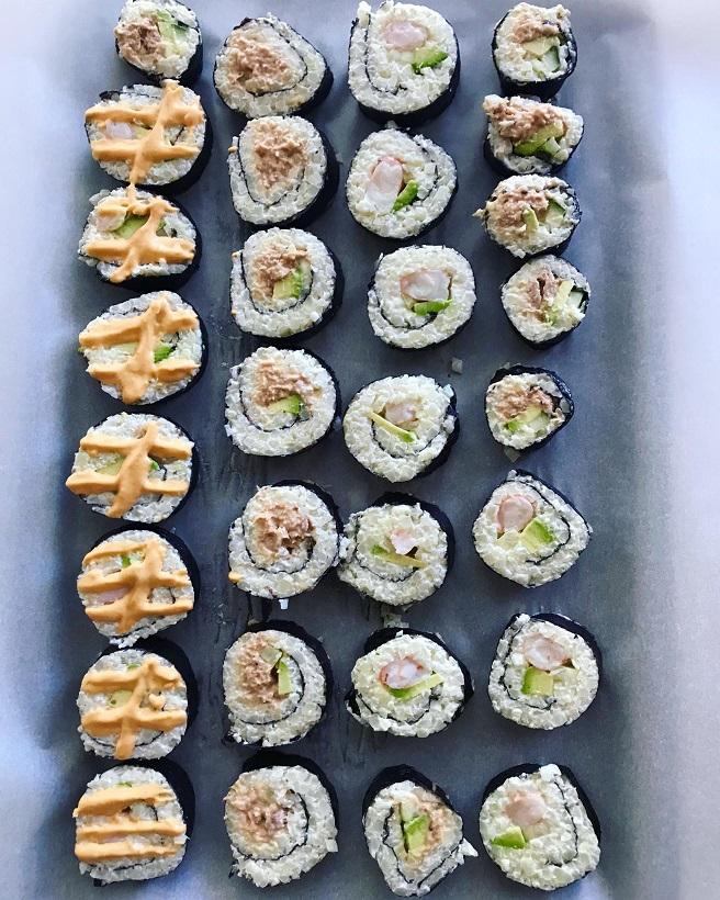 Keto Cauliflower Rice Sushi