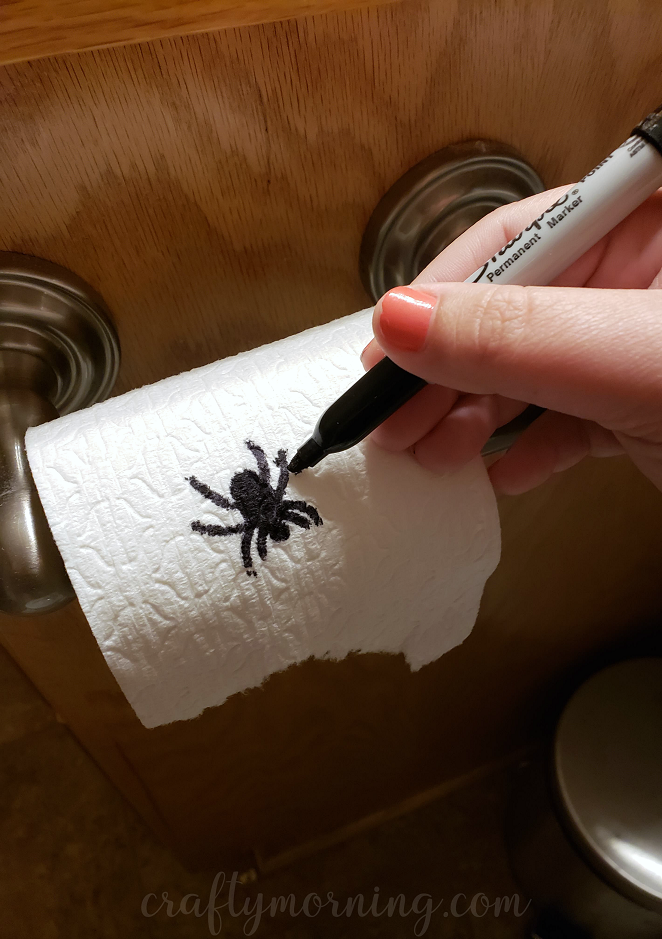Cool Funny Toilet Paper Spider Prank Crafty Morning Beatyapartments Chair Design Images Beatyapartmentscom