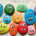 Decorate Stones like Halloween Monsters