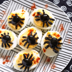 Olive Spider Deviled Eggs