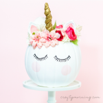 How to Decorate a Unicorn Pumpkin