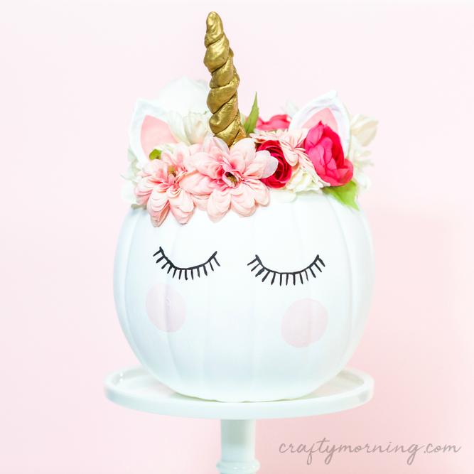How to Decorate a Unicorn Pumpkin