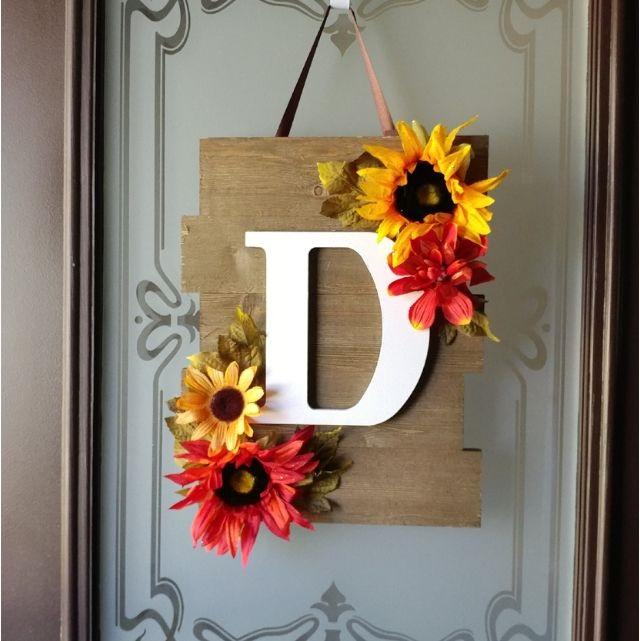 Mason Jar Door Hanger Monogram