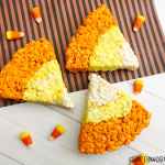 Candy Corn Rice Krispie Bars