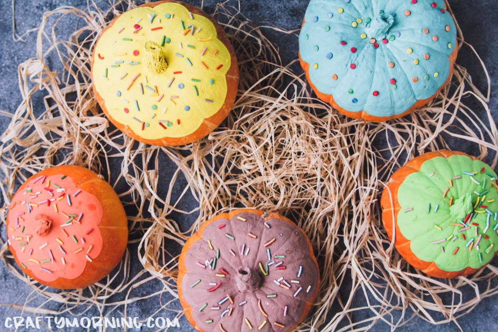 Painted Donut Pumpkins