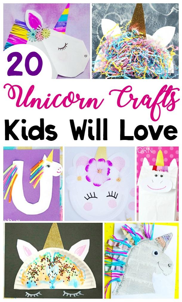 20 Unicorn Crafts for Kids to Make