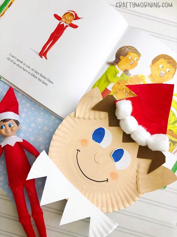 Paper Plate Elf on the Shelf Craft