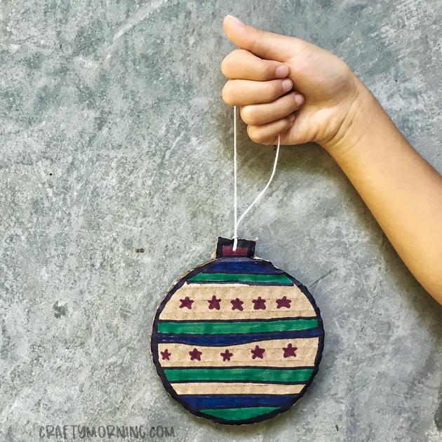 Cardboard Christmas Ornament Craft