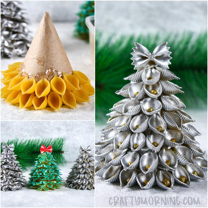 3d Christmas Tree Pattern: 3D Pasta Christmas Trees
