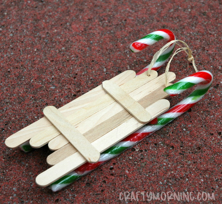Popsicle Stick Sled Ornament