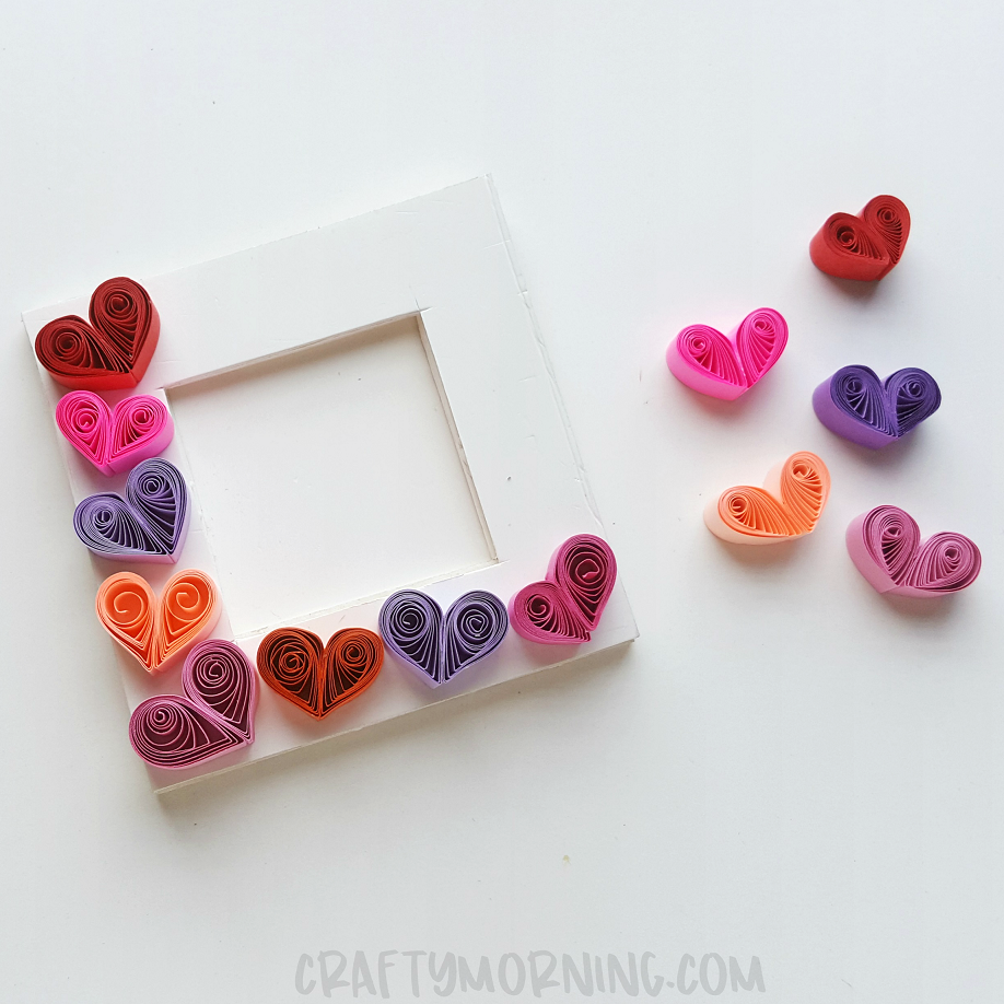 Quilled Heart Photo Frame Crafty Morning