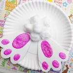 Paper Plate Bunny Butt Craft