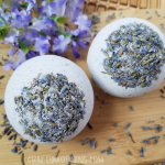 DIY Lavender Bath Bombs with Dried Flowers