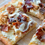 Keto Chicken Bacon Ranch Pizza