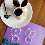 Toilet Paper Roll Bunny Stamps
