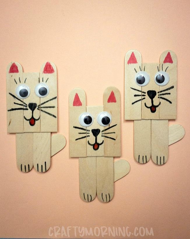 Popsicle Stick Kitty Craft