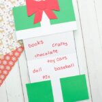 Foldable Christmas Present Wish List Craft